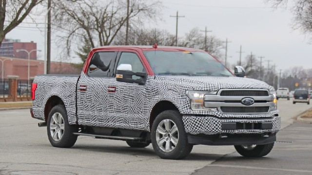 2022 Ford F-150 Electric spy shots