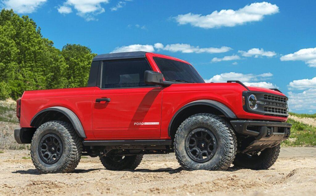 2021 Ford Bronco Two-Door Pickup renderings