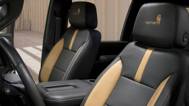 2021 Chevrolet Silverado HD Carhartt interior