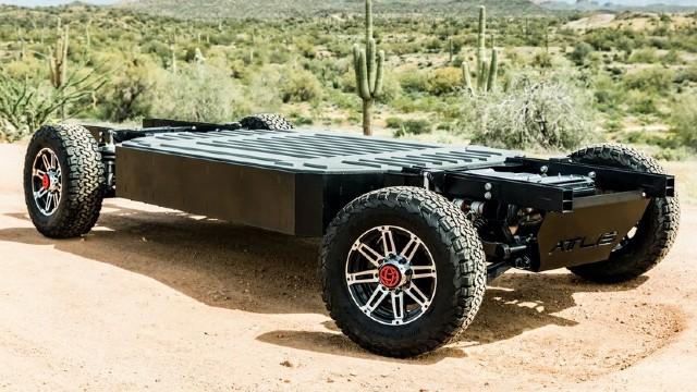 2022 Atlis XT Electric Pickup Truck charging