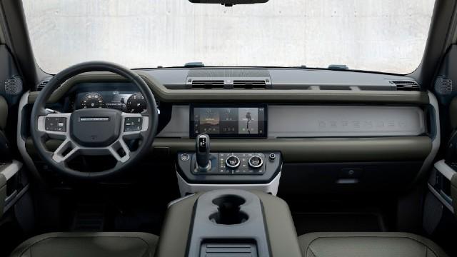 2022 Land Rover Defender Pickup Truck interior
