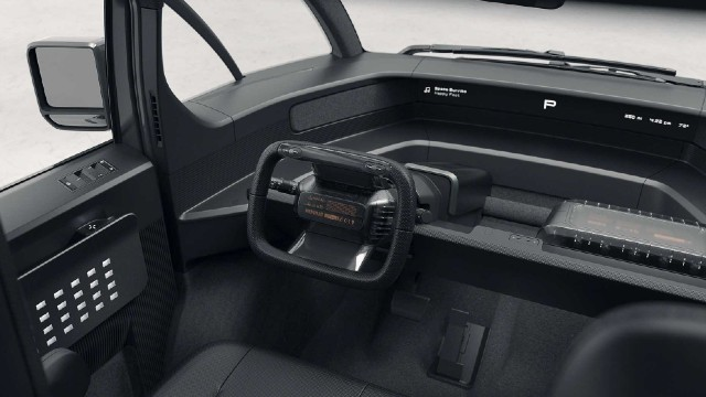 2023 Canoo Electric Pickup interior
